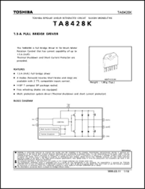 datasheet digital integrated circuits 74 series toshiba ta8428 series datasheets ta8428k ta8428ks ta8428f datasheet