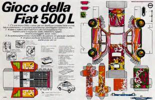 Fiat Magazine 1960s Advertising Magazine Ad Fiat 500 L Italy