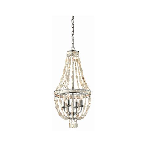 Shop Style Selections 4 Light Polished Chrome Chandelier Lowes Chandeliers
