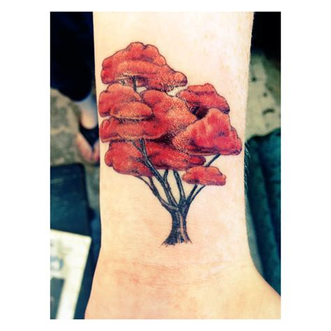 lotus tattoo in sayville ny red maple tree by johnny truant at lotus tattoo in