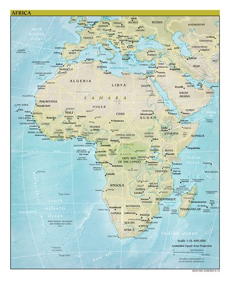africa map major cities maps of africa and countries political maps