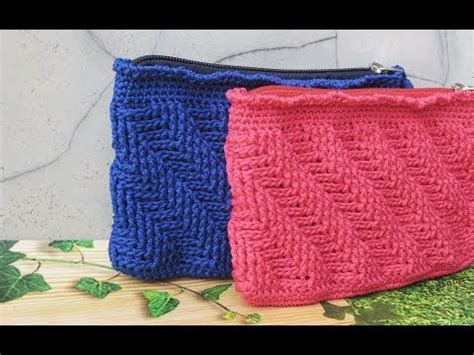 Tas Rajut Strawberry Mini crochet tutorial dompet rajut motif bunga tulip fl