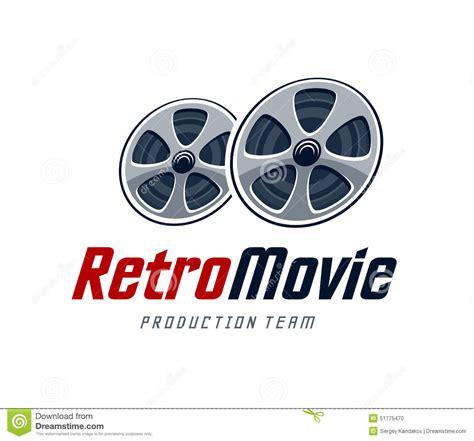 design studio logo vector templates retro movie logo stock vector image 51775470