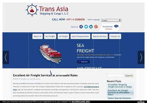 excellent air freight services at affordable rates by sabirah tannous issuu