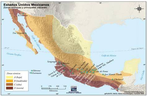 geografia de mexico  el mundo regiones sismicas