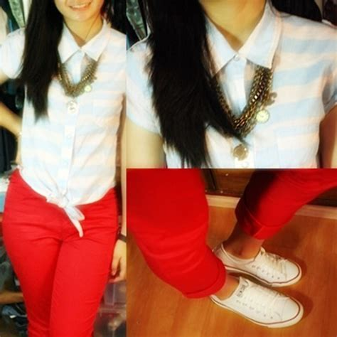 whatever floats your boat nederlands elaine anne soriano jellybean cropped top guess red
