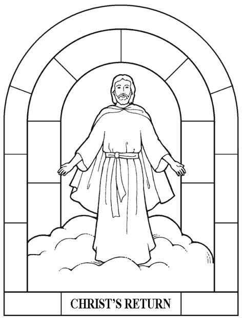 coloring page jesus coming again is coming again coloring page coloring pages