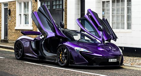 Amazing Purple Carbon Fiber Mclaren P1 Lands In