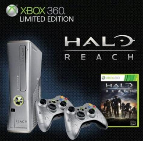 Silver Color Xbox 360 Slim Bundle Including Halo Reach