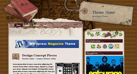 themes wordpress vintage free 33 free creative and unusual wordpress themes designbeep