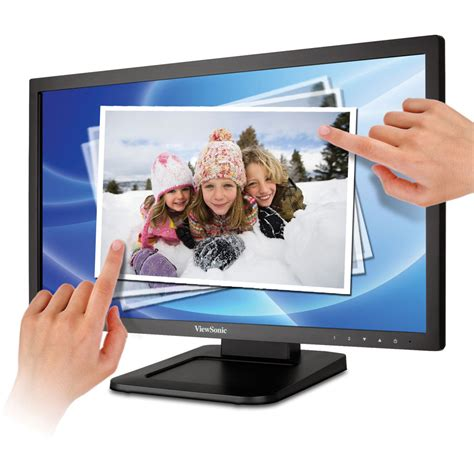 Viewsonic Td2220 Led Monitor Display 215 Wide Touch viewsonic 22 quot widescreen multi touch hd 1080p td2220
