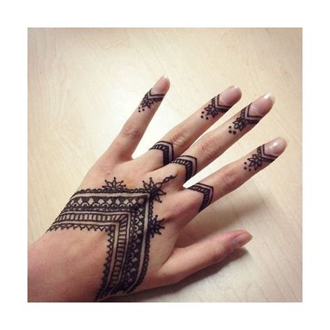 henna hand finger tattoo pics for gt finger henna liked on polyvore featuring