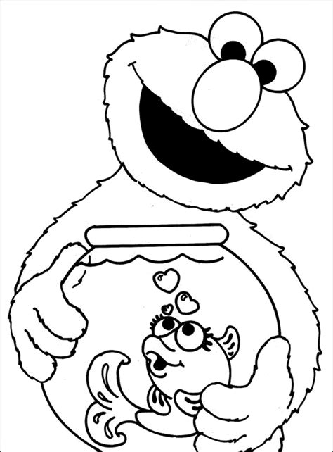 Elmo Coloring Pages Free Online Printable Kids Colouring Elmo Coloring Pages Free Printable