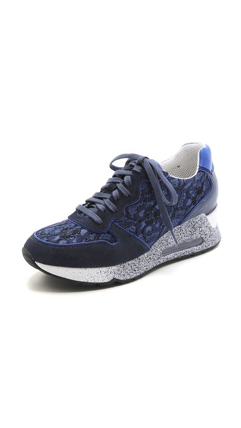 lace sneakers ash lace sneakers indigo in blue indigo lyst