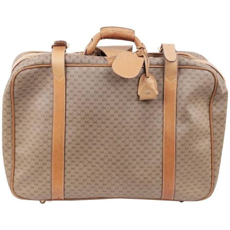 Tas Travel Bag Kanvas Gucci 1 gucci vintage gg monogram canvas cabin size suitcase travel bag for sale at 1stdibs