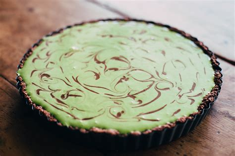 Choco Crust Matcha chocolate matcha tart with a sesame crust golubka kitchen