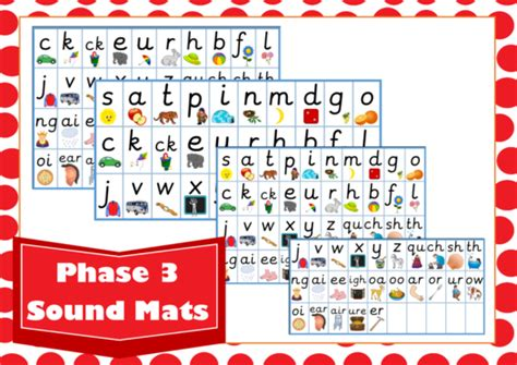 Phonics Phase 3 Sound Mat by Igh Worksheets Book Covers