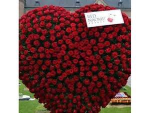 heart felt affinity 1000 red rose bouquet