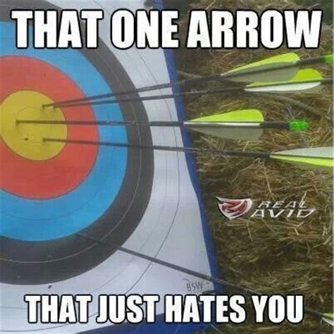 Bow Meme - that one arrow that hates you archery pinterest