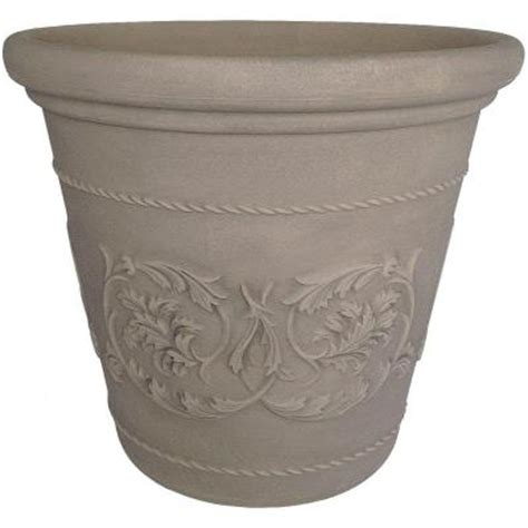 Home Depot Planter by Planters 20 In Dove Gray Resin