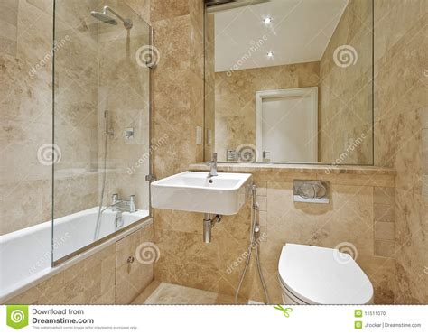Bathroom Interior With Brown And Beige Tiles Royalty Free brown marble bathroom stock photo image 11511070