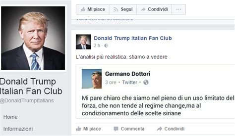 donald trump fan club il fan club italiano di donald trump su facebook sta con