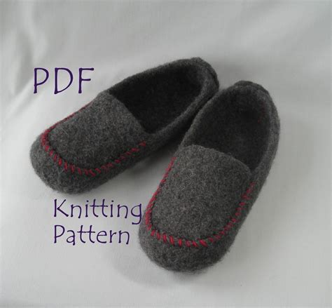 felted wool slipper patterns free knitting pattern pdf s felted wool loafers mocs