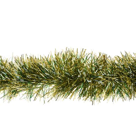 2m snow tipped tinsel garland 6ply thick christmas tree