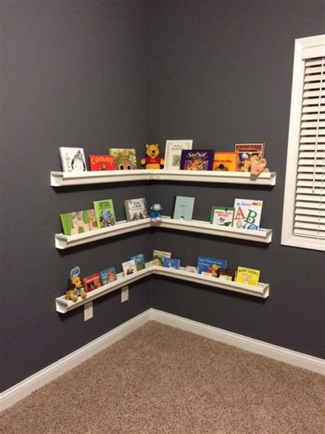 gutter bookshelves create