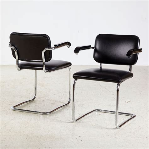Breuer Cesca Chair Nz - cesca chrome framed leather chair by marcel breuer for