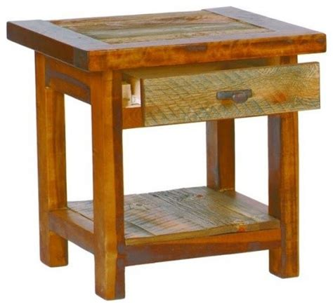 small rustic side table small reclaimed barnwood end table with drawer 18x18