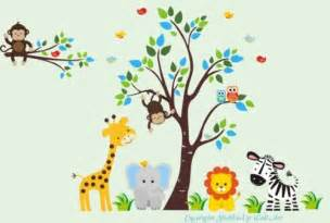Jungle Themed Wall Stickers Wall Decal Fantastic Jungle Theme Wall Decals For Kids