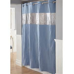hookless vision blue peva shower curtain walmart