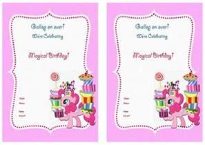 my pony birthday invitations birthday printable