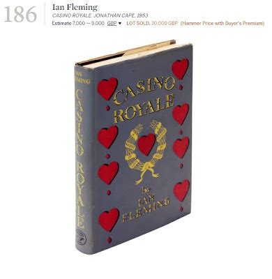 Casino Royale Already A Record Breaker by Bond The Secret Casino Royale Book Sold For