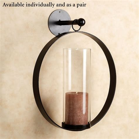 hanging candle wall sconce hanging circle wall sconce
