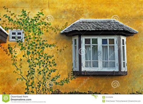 beautiful window beautiful window on vintage wall stock photo image 21479238