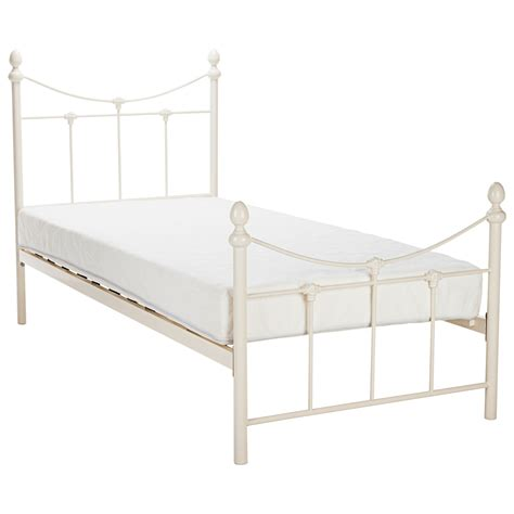 white metal single bed frame bed frame in white free delivery next day
