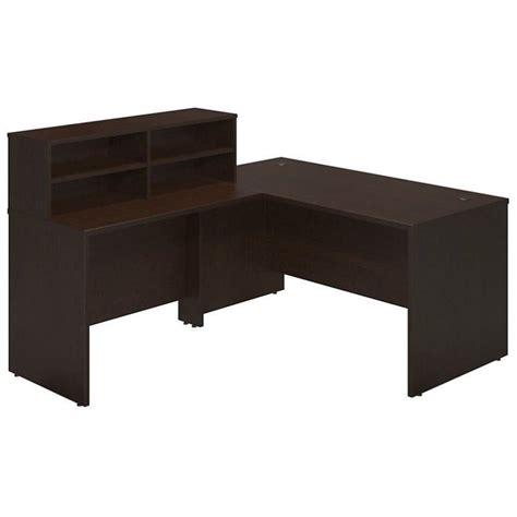 Cherry Reception Desk Bush Bbf Series C Elite 60w X 30d L Reception Desk In Mocha Cherry Sre231mr