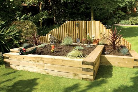 fencing essentials jigsaw sleepers garden railway sleepers