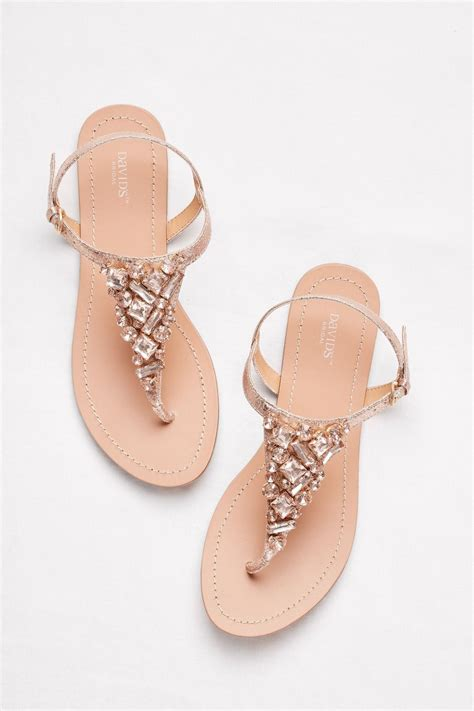 Gold Bridesmaid Sandals by Jeweled Gold Metallic Ankle Sandals By