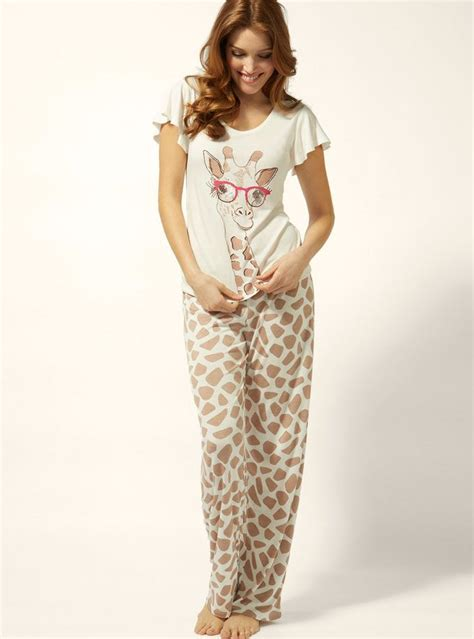 Piyama Sleepy Giraffe 44 curated cool pajamas ideas by brookie2178 cow print