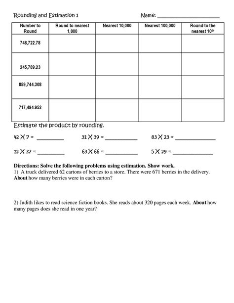 Using Rounding To Estimate Worksheets by 87 Best Images About Rounding On