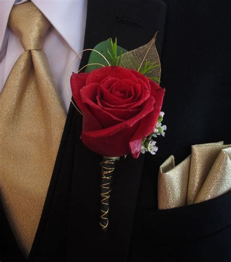 Boutonniere For Prom by Gold And Black Boutonniere For Prom My Designs