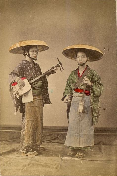is or japanese two traveling performers edo meiji taisho