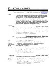 resume template for openoffice free