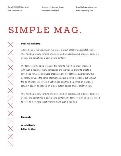 official up letter and white magazine official letterhead us