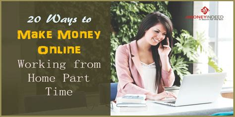 Working From Home Part Time Online - 20 ways to make money online working from home part time