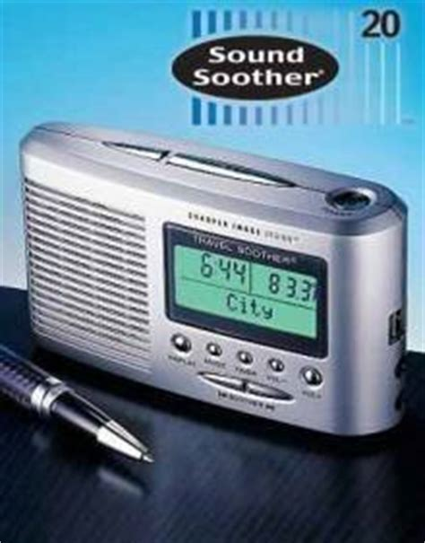 sharper image portable travel sound soother 20 with lcd alarm clock thermometer