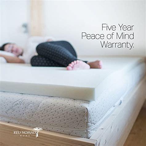 red nomad full size   thick ultra premium visco elastic memory foam mattress pad bed